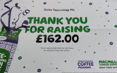 £162.00 Raised in our Macmillian Coffee Morning